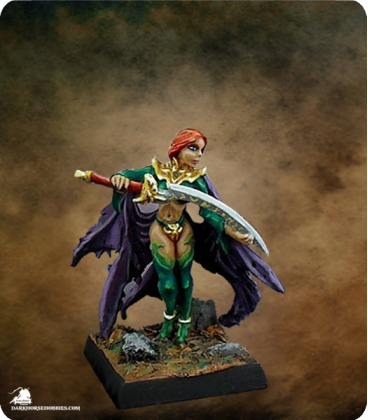 Warlord: Mercenaries - Theda, Cleric/Priestess (painted by Jim Cook Jr)