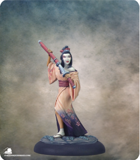 Visions in Fantasy: Geisha Assassin (painted by Rhonda Bender)