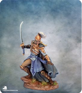 Visions in Fantasy: Male High Elf Warrior (painted by Matt Verzani)