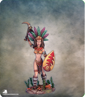Visions in Fantasy: Female Amazon Warrior (painted by Matt Verzani)