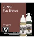 Vallejo Model Color: Flat Brown (17ml)