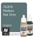 Vallejo Model Color: Medium Sea Grey (17ml)