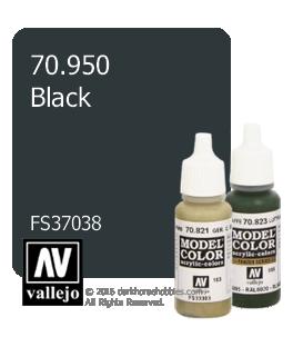 Vallejo Model Color: Black (17ml)