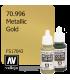 Vallejo Model Color: Metallic Gold (17ml)