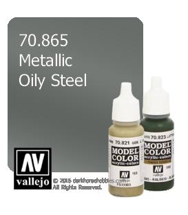 Vallejo Model Color: Metallic Oily Steel (17ml)