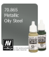 Vallejo Model Color: Metallic Oily Steel (17ml)