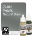Vallejo Model Color: Metallic Natural Steel (17ml)