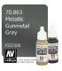 Vallejo Model Color: Metallic Gunmetal Grey (17ml)