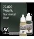 Vallejo Model Color: Metallic Gunmetal Blue (17ml)