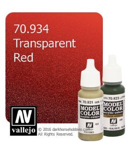 Vallejo Model Color: Transparent Red (17ml)