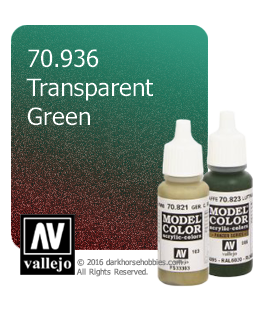 Vallejo Model Color: Transparent Green (17ml)