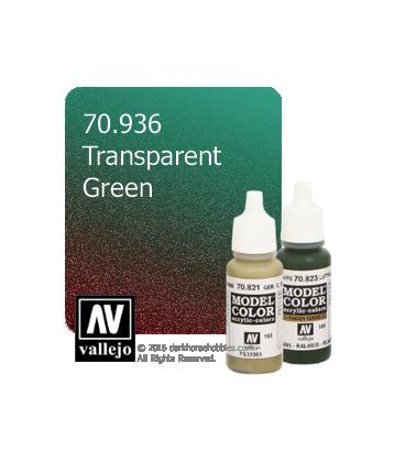 Vallejo Model Color: Transparent Green (17ml)