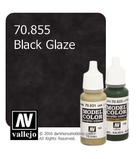 Vallejo Model Color: Black Glaze (17ml)