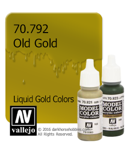 Vallejo Model Color: Liquid Gold - Old Gold (17ml)