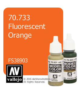Vallejo Model Color: Fluorescent Orange (17ml)