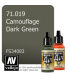 Vallejo Model Air: Camouflage Dark Green (17ml)