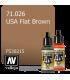 Vallejo Model Air: USA Flat Brown (17ml)