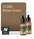 Vallejo Model Air: Brown Green (17ml)