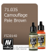 Vallejo Model Air: Camouflage Pale Brown (17ml)