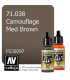 Vallejo Model Air: Camouflage Med Brown (17ml)