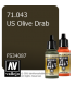 Vallejo Model Air: US Olive Drab (17ml)