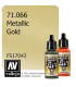 Vallejo Model Air: Gold (Metallic) (17ml)