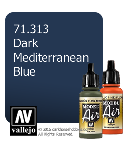 Vallejo Model Air: Dark Mediterranean Blue (17ml)