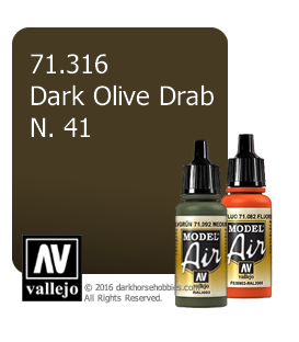 Vallejo Model Air: No. 41 Dark Olive Drab (17ml)