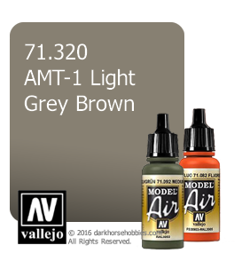 Vallejo Model Air: AMT-1 Light Grey Brown (17ml)