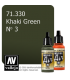 Vallejo Model Air: Khaki Green No 3 (17ml)