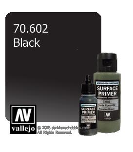 Vallejo Surface Primer: Black (17ml)
