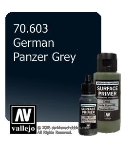 Vallejo Surface Primer: German Panzer Grey (17ml)