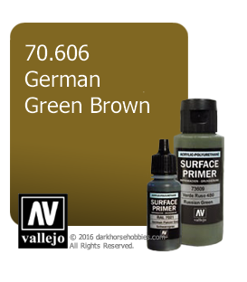 Vallejo Surface Primer: German Green Brown (17ml)