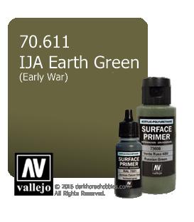 Vallejo Surface Primer: IJA Earth Green (early war) (17ml)