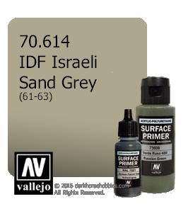 Vallejo Surface Primer: IDF Israeli Sand Grey 61-73 (17ml)