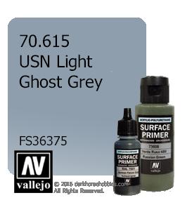 Vallejo Surface Primer: USN Light Ghost Grey (17ml)
