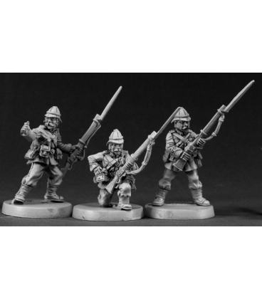 Chronoscope: British Colonial Riflemen Set (3-pack) (unpainted)
