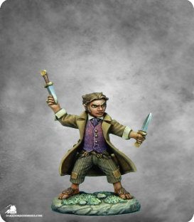 Visions in Fantasy: Halfling Rogue with Daggers (painted by Derek Schubert)