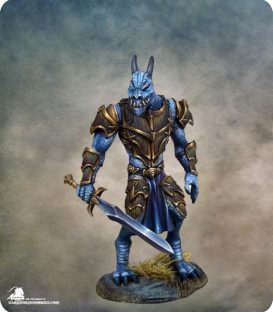Visions in Fantasy: Male Dragonkin Warrior (painted by Jessica Rich)