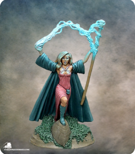 Elmore Masterworks: Castle of Deception - Female Wizard (painted by Rhonda Bender)