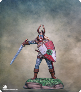 Elmore Masterworks: Gateway - Female Cavalier with Sword and Shield (painted by Matt Verzani)