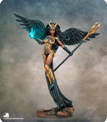 Dark Sword: Thief of Hearts 5 - Female Mage with Staff (painted by Marike Reimer)