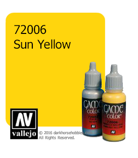 Vallejo Game Color: Acrylic Paint - Sun Yellow (17ml)