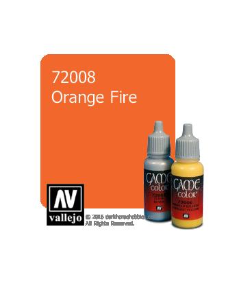 Vallejo Game Color: Acrylic Paint - Orange Fire (17ml)