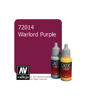 Vallejo Game Color: Acrylic Paint - Warlord Purple (17ml)