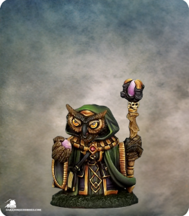 Critter Kingdoms: Owl Mage (painted by Jessica Rich)