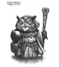 Critter Kingdoms: Owl Mage (artwork)