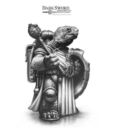 Critter Kingdoms: Tortoise Cleric (artwork)