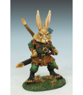 Critter Kingdoms: Rabbit Warrior (painted by Jessica Rich)
