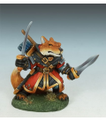 Critter Kingdoms: Fox Dual Wield Warrior (painted by Jessica Rich)